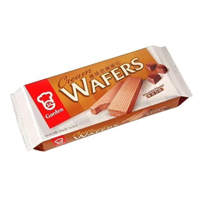 GARDEN Cream Wafers Chocolate Flavour 7 OZ