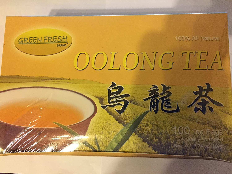 GREEN FRESH Oolong Tea Bags 7 OZ 100 Bags