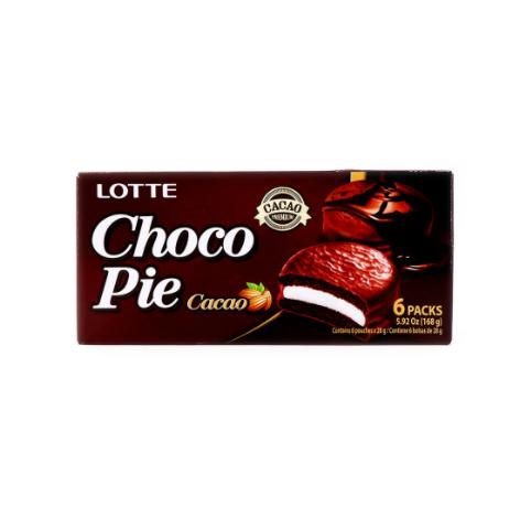 LOTTE Choco Pie Cacao 6 Packs 5.92 OZ