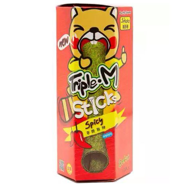 TRIPLE. M Roasted Seaweed Stick Spicy 24 Gr