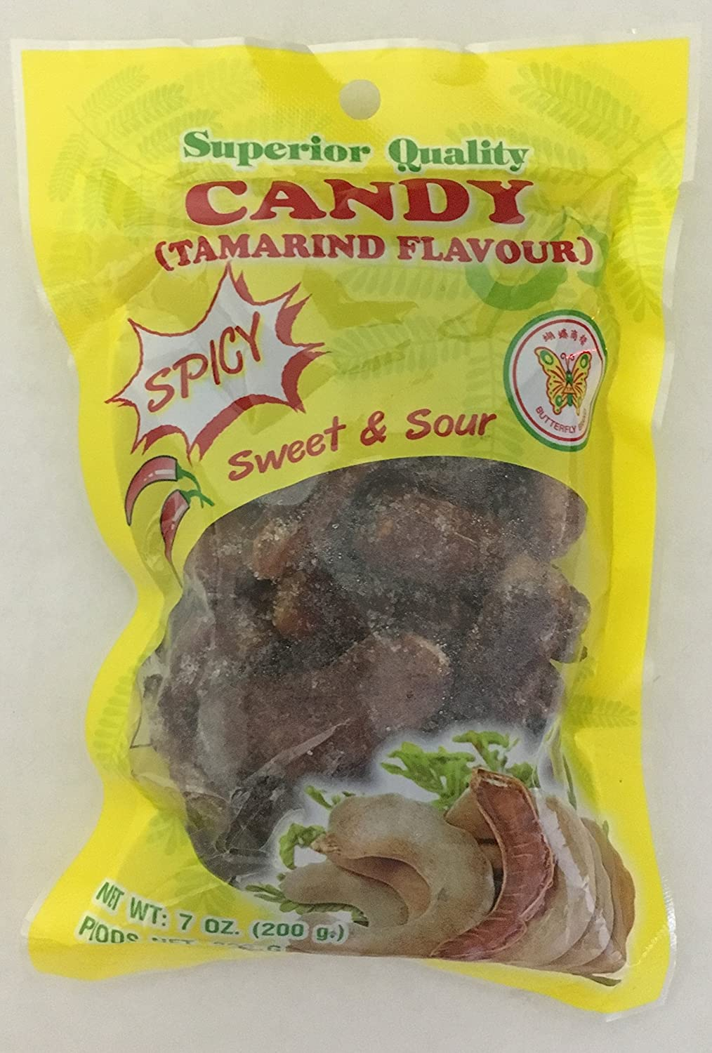 medium butterfly sweet sour spicy tamarin candy 7 oz%09 puuhaN tH