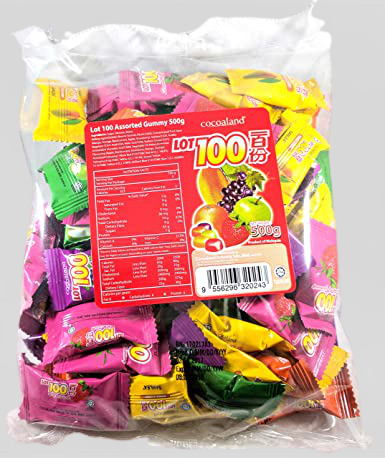 COCOALAND Lot 100 Assorted Gummy Candy 500 G