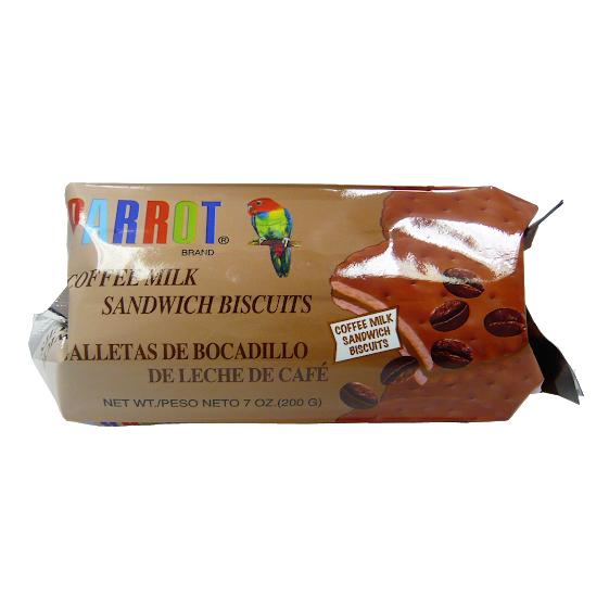 PARROT Coffee Milk Sandwich Biscuits 7 Oz