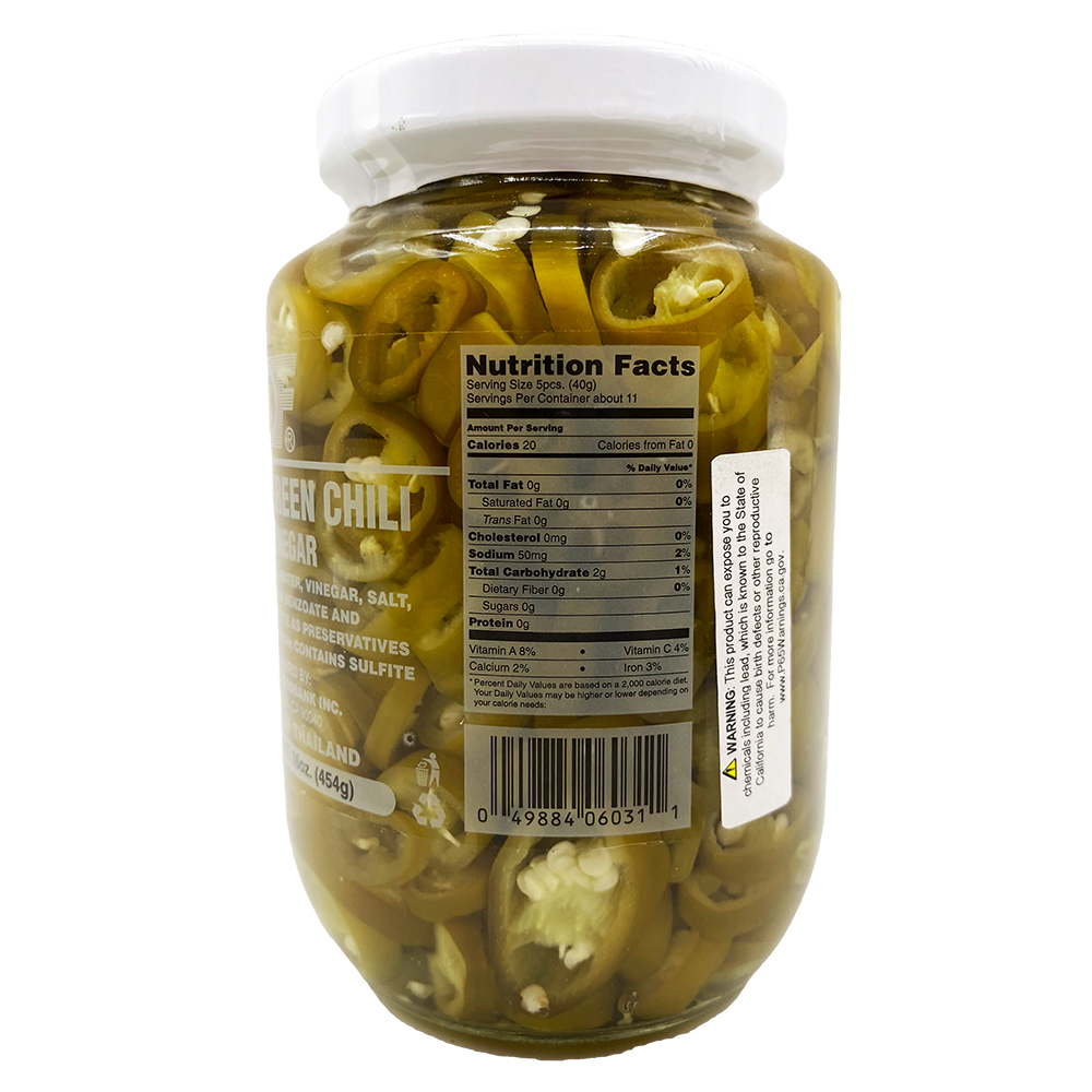 medium 1st of sliced green chili in vinegar 16 oz SHaKBCOgXj