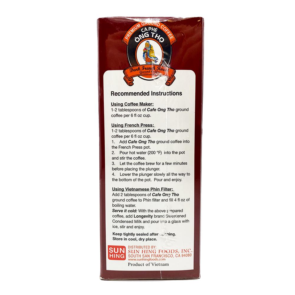 COFFEE ONG THO Premium Ground Coffee 17.6 OZ
