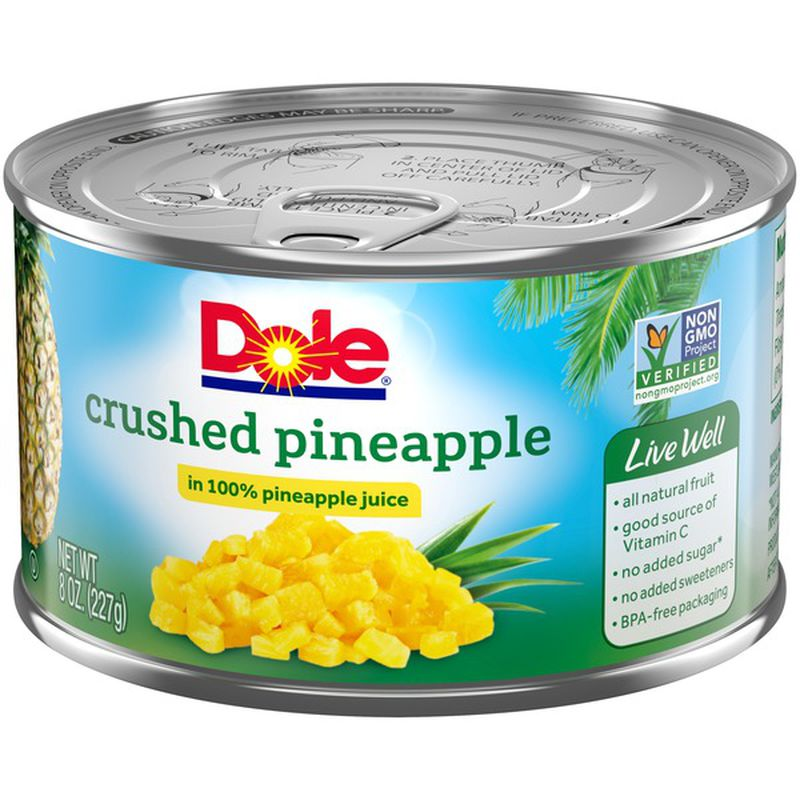 medium dole crushed pineapple 8 oz IJZotSt1yC