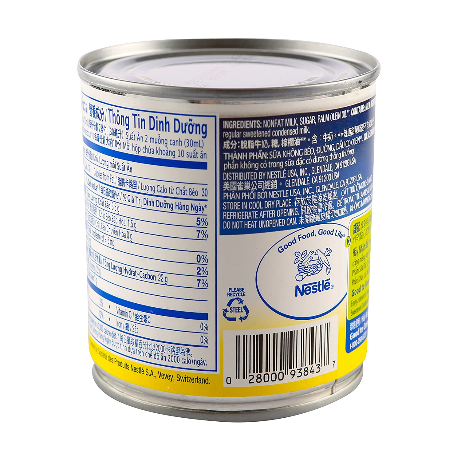 NESTLE Sweetened Condensed Filled Dairy Product / San Pham Sua Dac Co Duong Va Ca Thanh Phan Khac 14 OZ