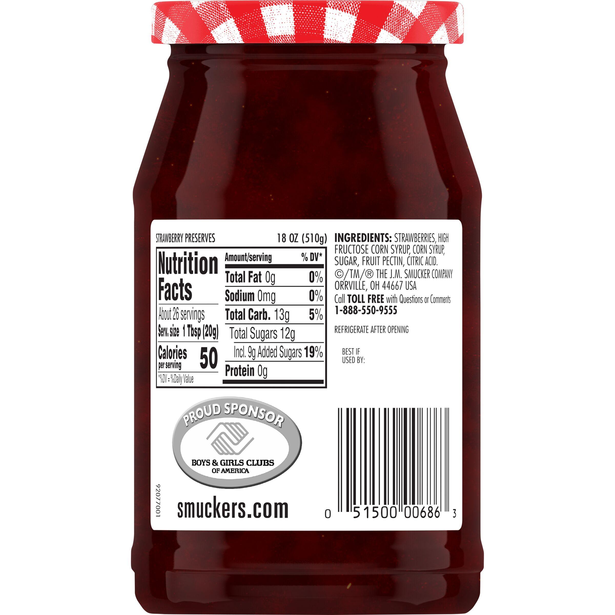SMUCKER'S Strawberry Preserves 18 OZ