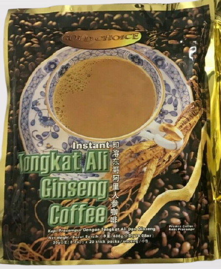 GOLD CHOICE Instant Tongkat Ali Ginseng Coffee 14.08 OZ