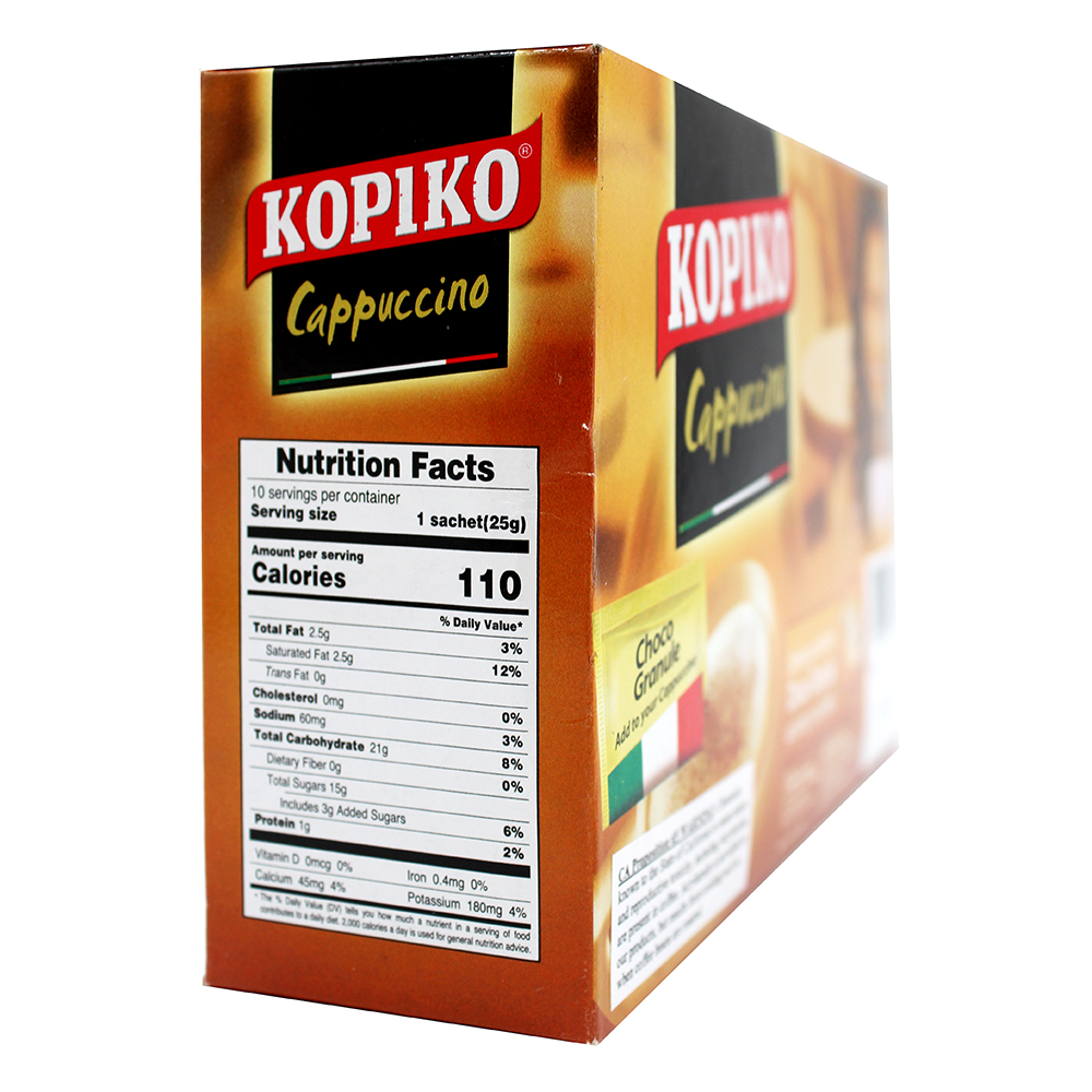 medium kopiko cappuccino smooth and foamy italian coffee 88 oz jN0M Jsiy