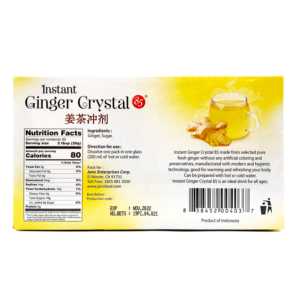 medium jans instant ginger crystal tea 20