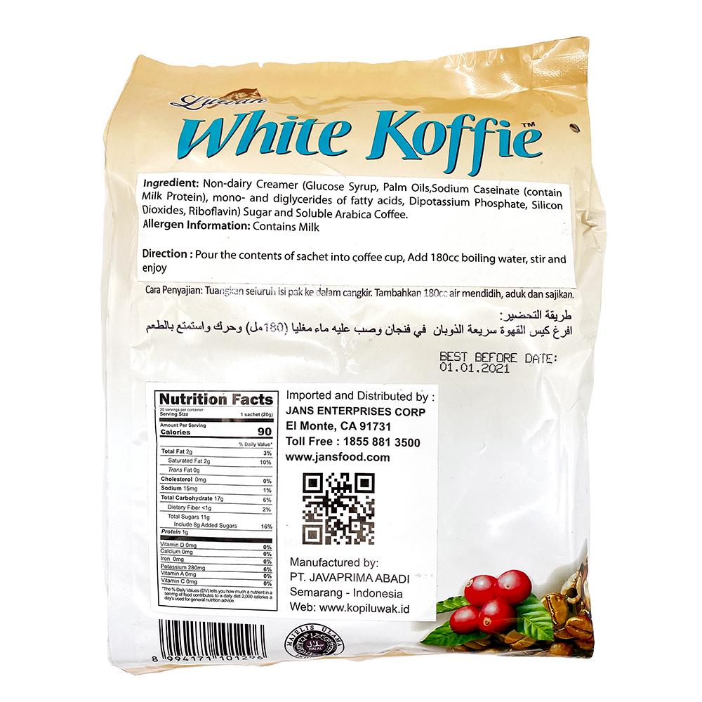 medium luwak premium white koffie 14 oz plnr6hu1R