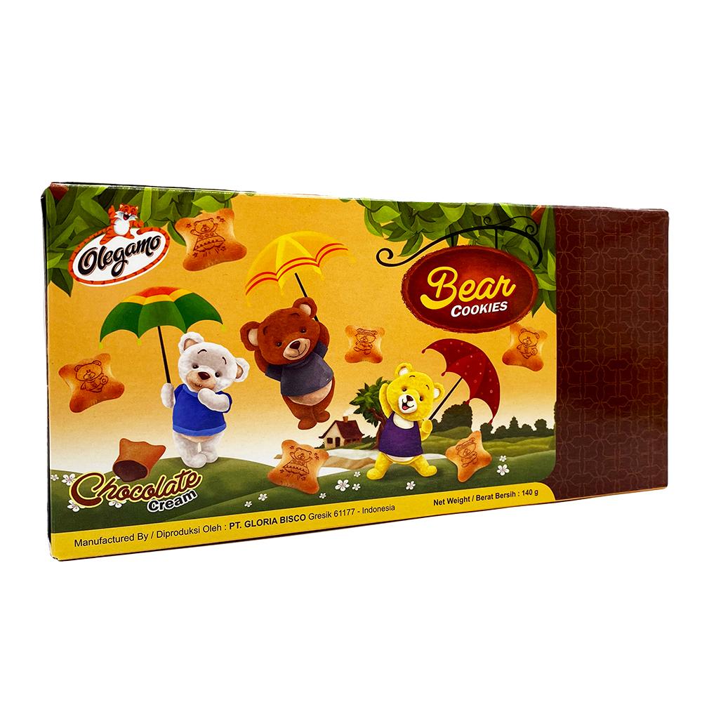 OLEGAMO Bear Choco Cream Cookies 120 Gr