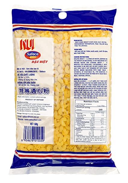 SAFOCO Macaroni / Nui 17.6 OZ