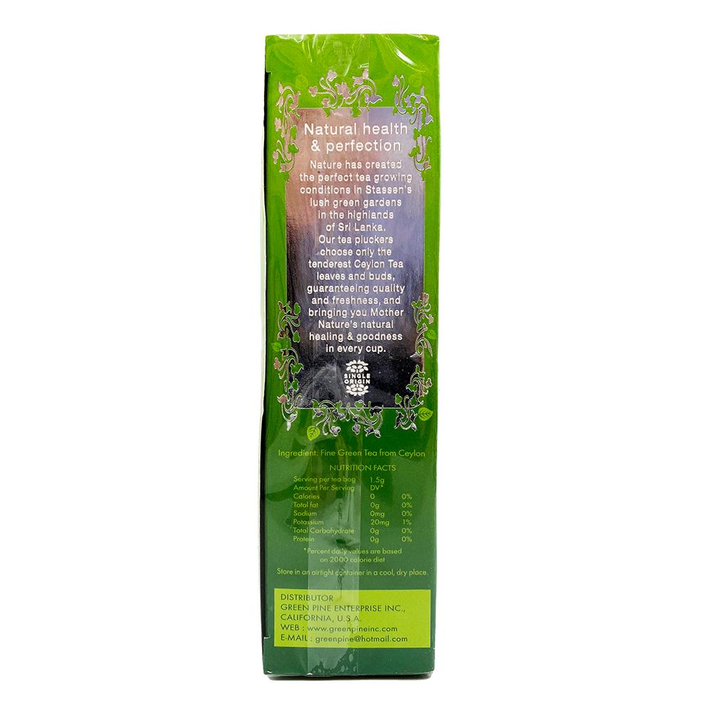STASSEN Pure Ceylon Green Tea 25 Tea Bags 1.25 OZ