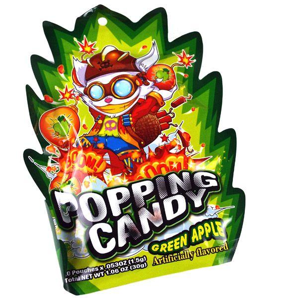 YUHIN BRAND  Popping Candy Green Apple Flv 1.06 Oz
