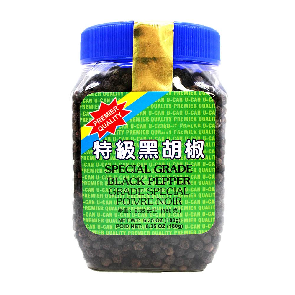 U-CAN Whole Black Pepper 6.35 Oz