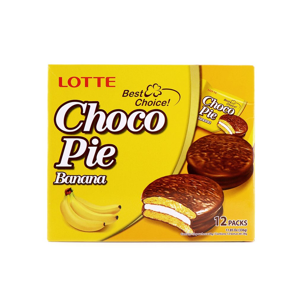 medium lotte choco pie banana 12 packs KUZ7Y Z3K