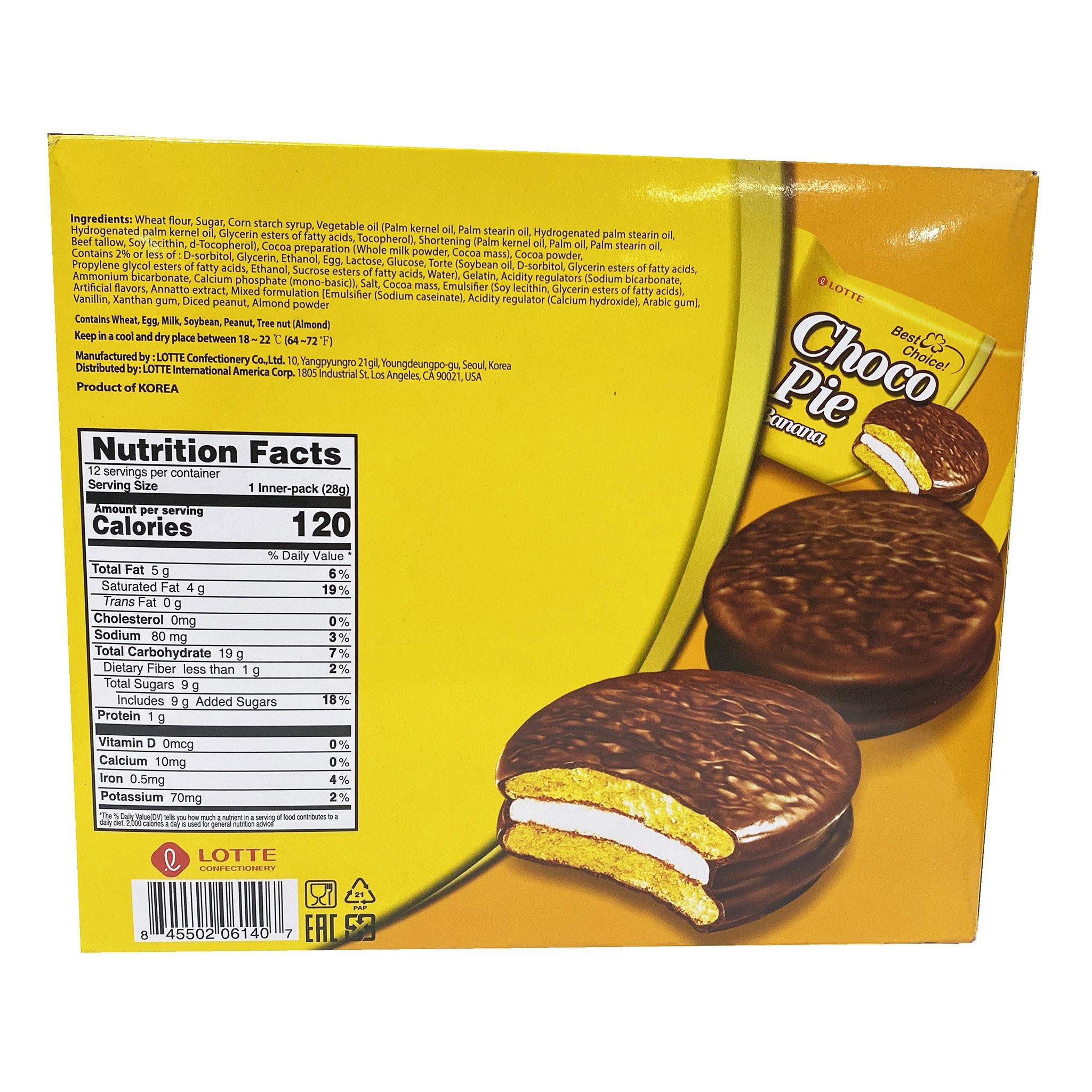 LOTTE Choco Pie Banana 12 Packs