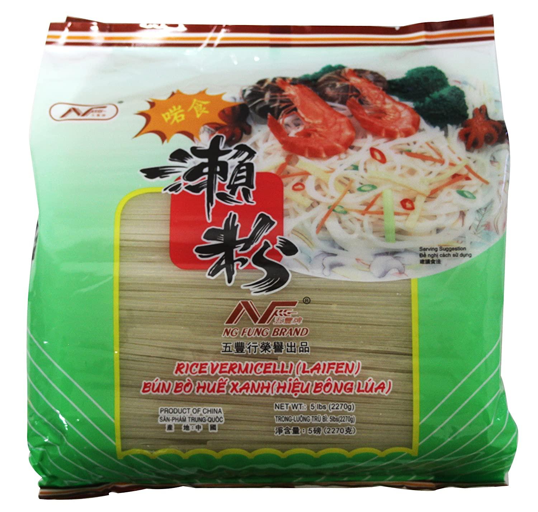 NG FUNG BRAND RICE VERMICELLI (XL) LAIFEN / Bun Bo Hue Xanh 5-LBS