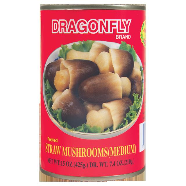 DRAGONFLY Peeled Straw Mushrooms (Medium) 15 OZ