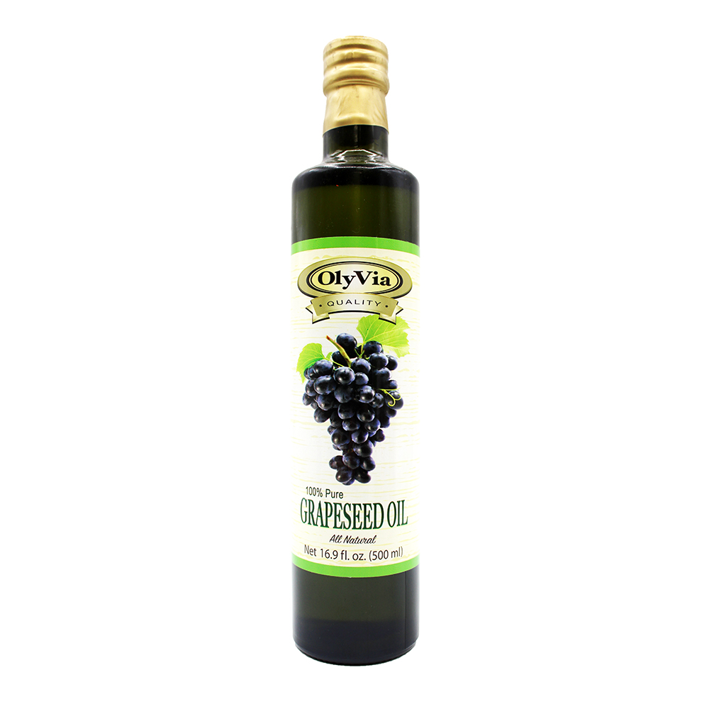 OLYVIA 100% Pure Grapeseed Oil 16.9 OZ