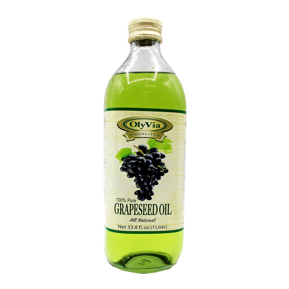 OLYVIA 100% Pure Grapeseed Oil 33.8 FL OZ