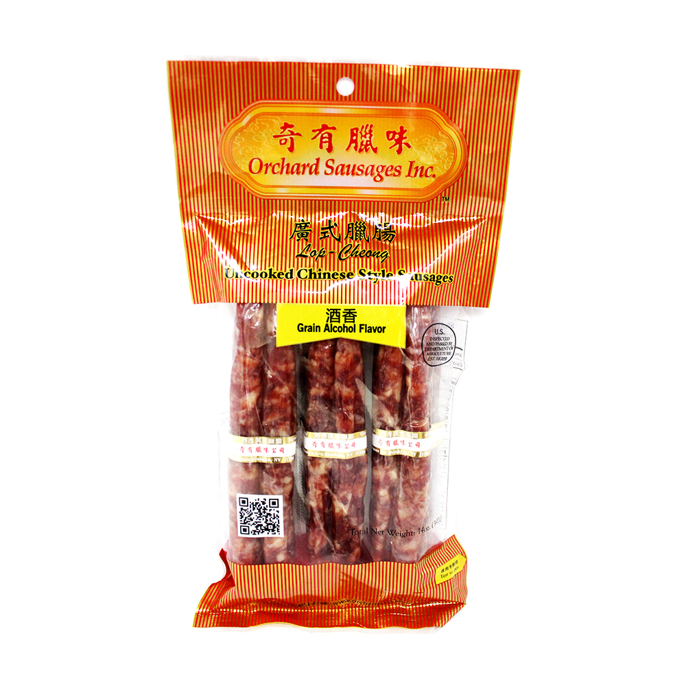 ORCHARD Uncooked Chinese Style Sausages Grain Alcohol Flavor 14 OZ