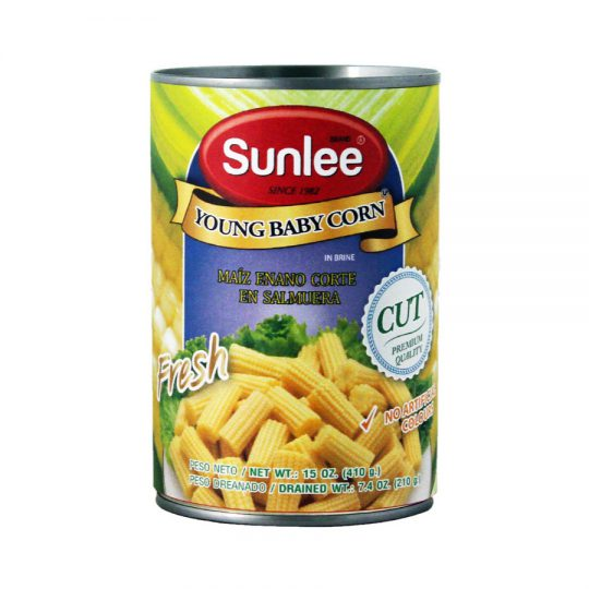 SUNLEE Young Baby Corn In Brine (Cut) 15 OZ