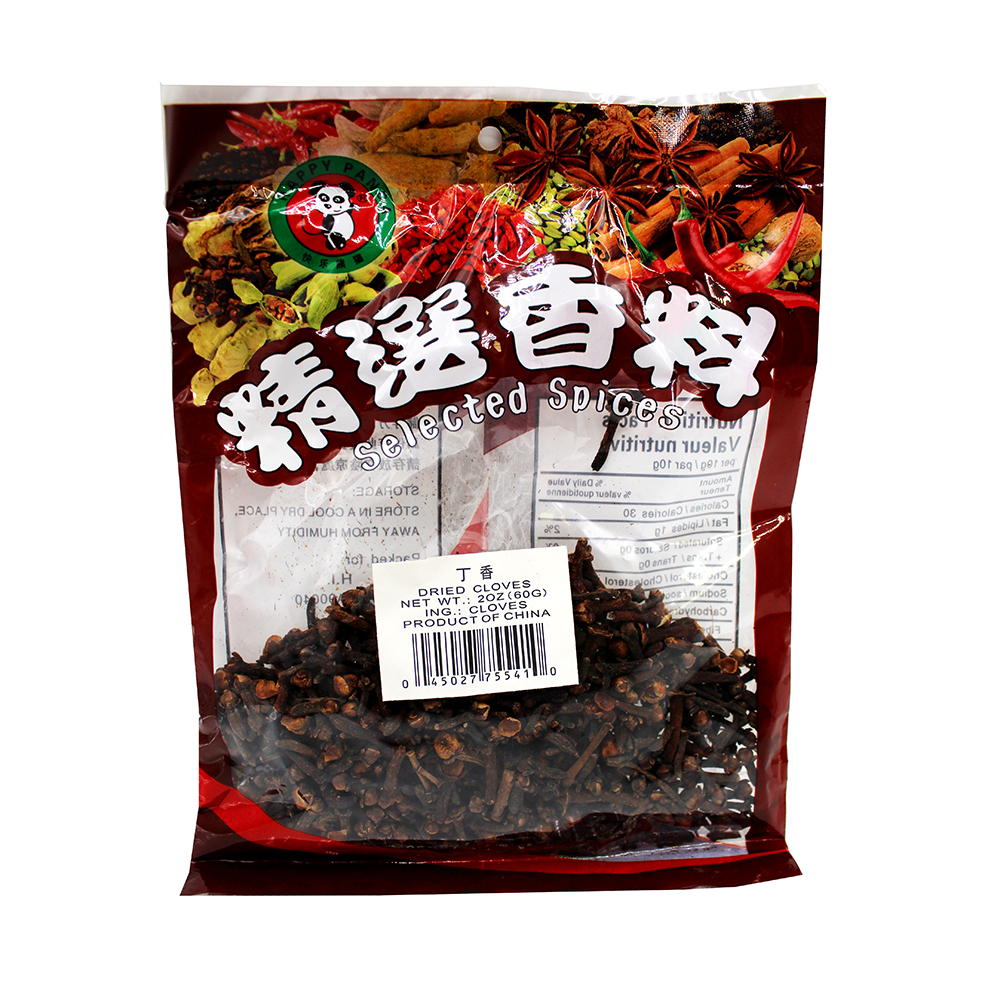 HAPPY PANDA Selected Spices Dried Cloves 2 OZ