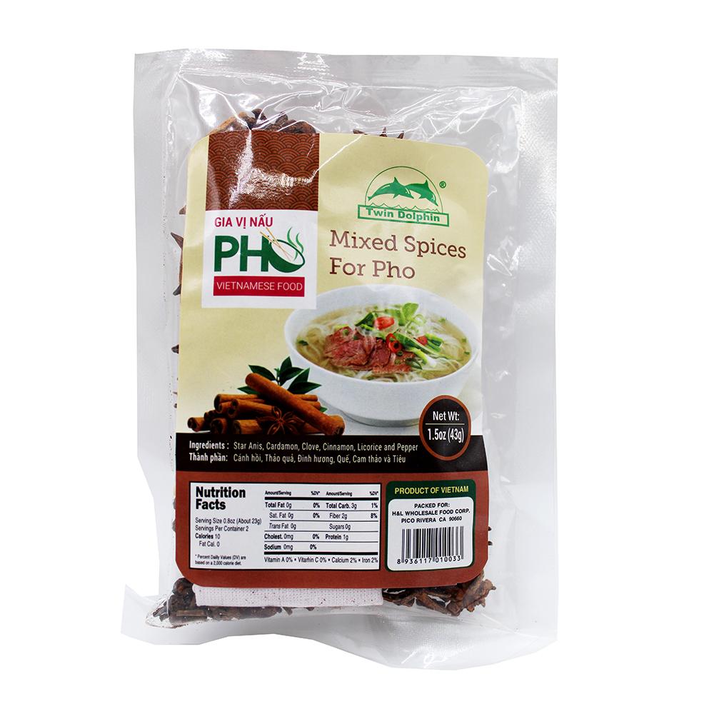 TWIN DOLPHIN Mixed Spices For Pho / Gia Vi Nau Pho 1.5 OZ