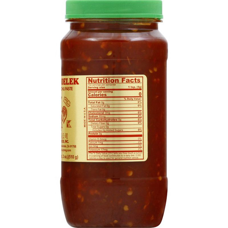 medium huy fong sambal oelek ground chilipaste 18 oz FtByggj4