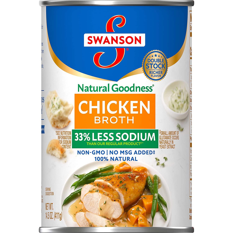 medium swanson chicken broth less sodium 145 oz 1rW4IiB0G