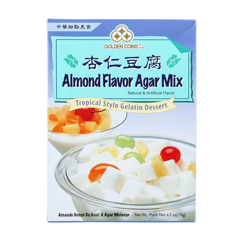 GOLDEN COINS Almond Flavor Agar Mix 6.2 OZ