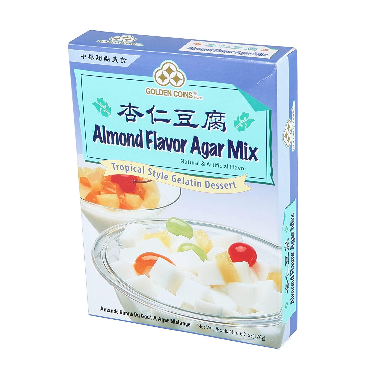 medium golden coins almond flavor agar mix 62 oz idXE4pBuMV