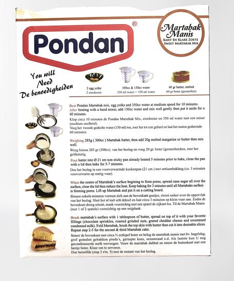 medium pondan martabak manis cake mix 14 oz EI1fm 9 Jv