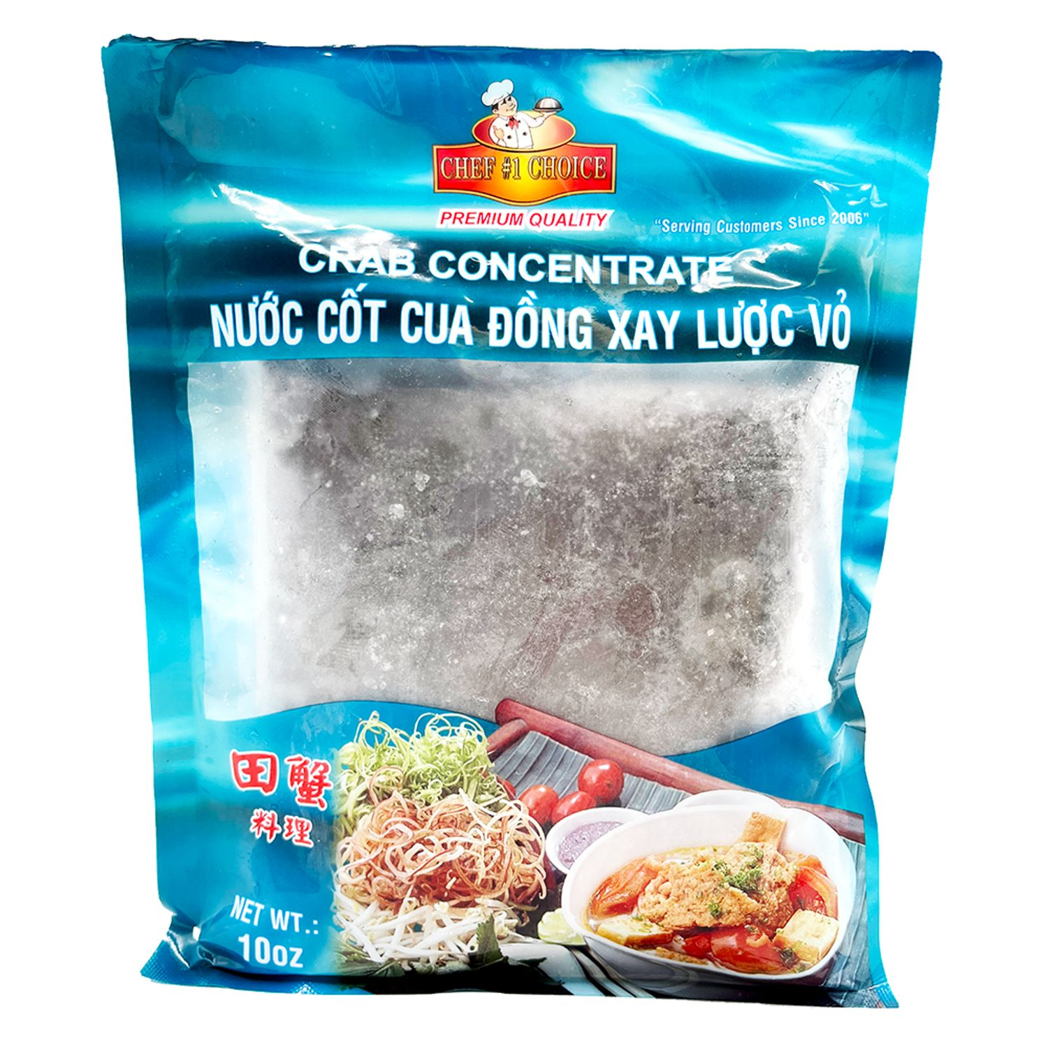 CHEF 1 CHOICE Prepare Crab Concentrate / Nuoc Cot Cua Dong Xay Luoc Vo 10 OZ [FROZEN]